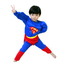 4 8 Years Kids S XXL Muscle Superman Costume Children Boy Girl Halloween Costume The Spiderman