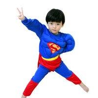 4 8 Years Kids S XXL Muscle Superman Costume Children Boy Girl Halloween Costume The Spiderman