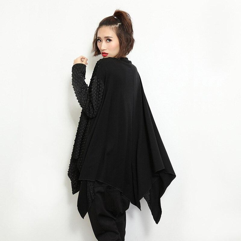 Punk Lâche Automne T Mode Chemise Taille Chemises Manches Dames Longues À Shirt Tops Plus Surdimensionné Femmes 2019 La Pull Noir Féminin qfa6f