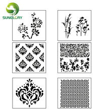 Flowers Fondant Cake Stencil Template Mold Wedding Decoration Cupcake Cookie Stencils Lace Baking Tools For Cakes