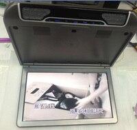 По СПСР 13.3 дюймов автомобиля откидной монитор с DVD USB SD ИК FM вход HDMI игры и русский язык 1920*1080 Разрешение