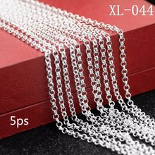 5ps/package 925 sterling silver necklace 925 sterling silver pearls The new female pearl necklace Sterling silver necklace jewel(China)