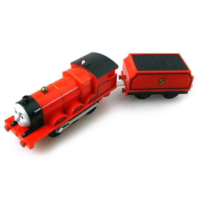 T0213 Электрический Томас и друг Джеймс с каретки Trackmaster двигатель Моторизованный поезд Chinldren ребенок дети пластиковые toys СИБ