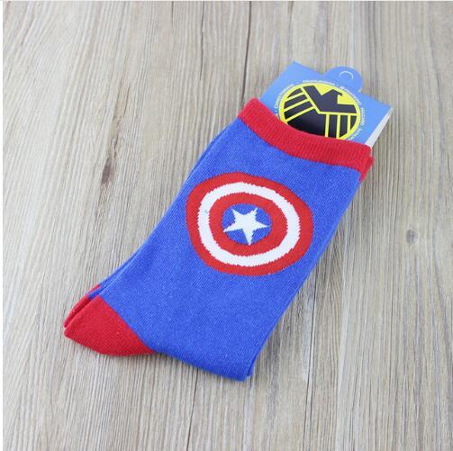 15 Paare/los Heißer Superman Batman Captain America Cartoon Odd Zukunft Glücklich Socken Charakter Muster Superhelden Glücklich Socken Unterwäsche & Schlafanzug