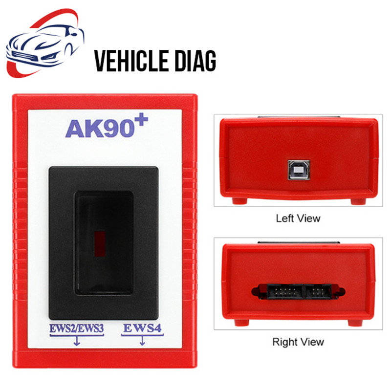 US $19 3 5% OFF|AK90 Key programmer for BMW all EWS Version V3 19 OBD2 Auto  Diagnostic Tool Code Scanner Car Fault Reader Car Key Code AK 90-in Auto