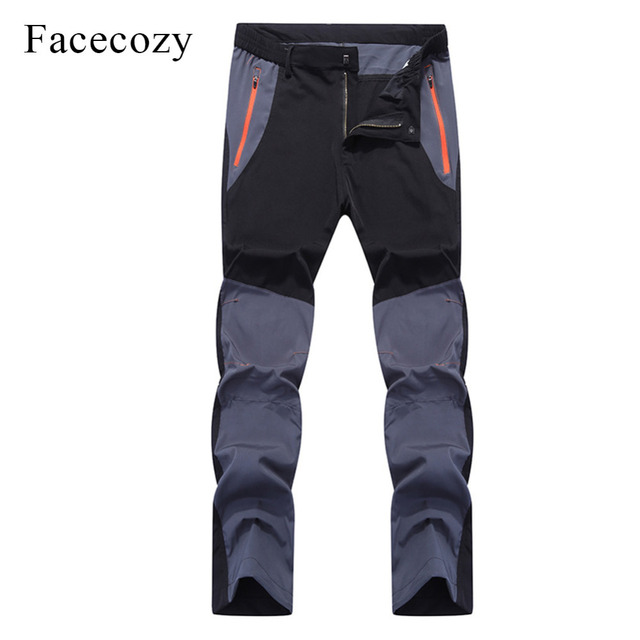 Facecozy Men Summer Breathable Quick Dry Outdoor Sport Pants Elastic Thin Anti-UV Trousers Spring Male Hiking Fishing Long Pants 2