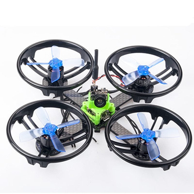 DIY 110mm pure carbon BNF frame kit quadcopter unassembled 16mm x 16mm FPV brushless micro indoor drone FC mounting holes diy fpv mini drone qav210 quadcopter frame kit pure carbon frame cobra 2204 2300kv motor cobra 12a esc cc3d naze32 10dof