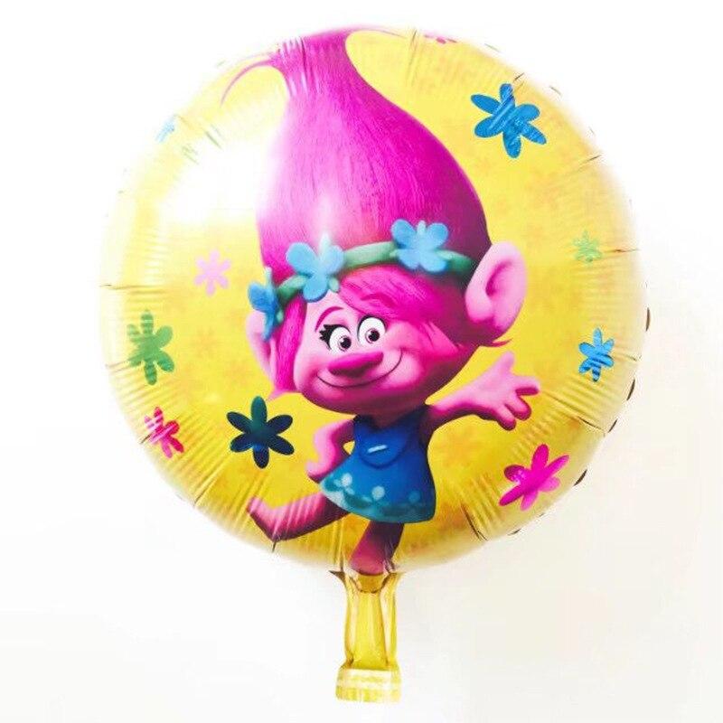 100pcs 18 inch aluminium foil balloon Trolls theme birthday kids ...