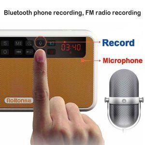 Image 4 - Rolton E500 stéréo Bluetooth haut parleur FM Radio Portable haut parleur Radio Mp3 jouer enregistrement sonore main libre pour téléphone et lampe de poche