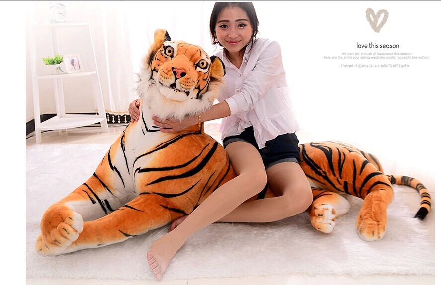 stuffed toy 150cm tiger prone tiger plush toy Christmas gift p2039 stuffed animal 88 cm plush lying tiger toy white tiger doll great gift w493