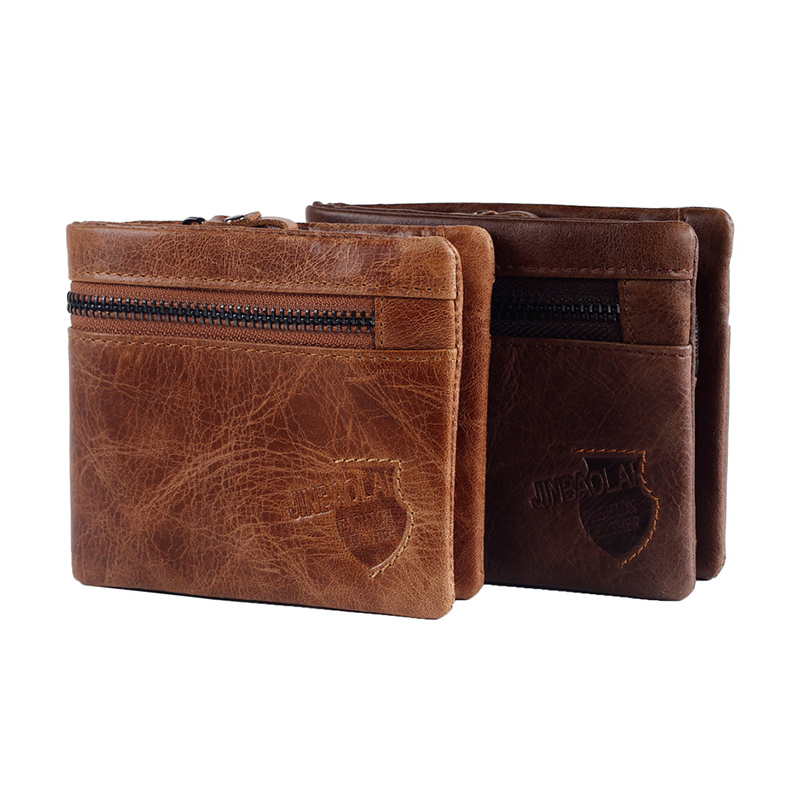 Men Wallet Genuine Leather Card Coin Holder Hot Money Clip Zipper Casual High Quality Photo Cash Pocket Male Purse Portomonee men genuine leather wallet 2016 dollar price luxury famous designer high quality money clip men wallet