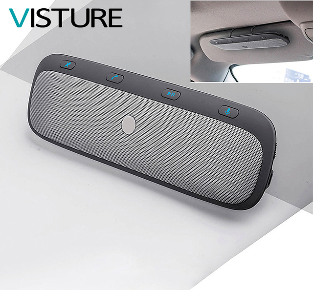 US $21 62 |New Upgrade Bluetooth Speaker Car Kit Hands free Speaker Headset  for iPhone Samsung Car Sun Visor Speaker Visture TZ900 on Aliexpress com |