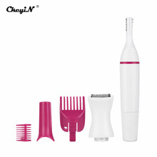 5 in 1 Electric Eyebrow Trimmer Lady Shaver No Pain Woman Hair Removal Kit Female Epilator