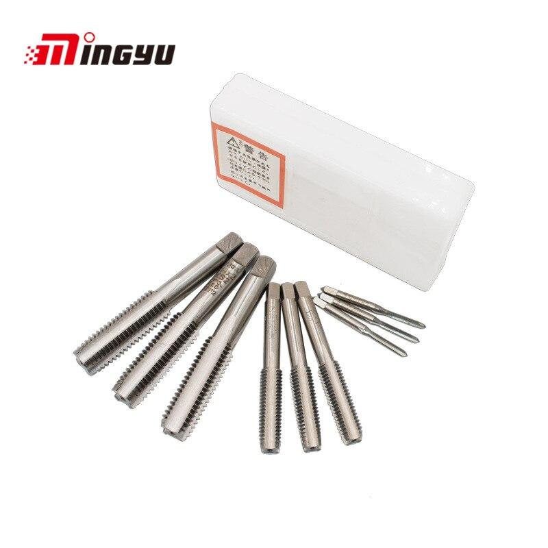 3pcs M3 To M20 Machine Screw Taps For Wood Plastic Metal HSS Steel Screw Thread Metric Plug Taps Pre Medium Finish Three Types