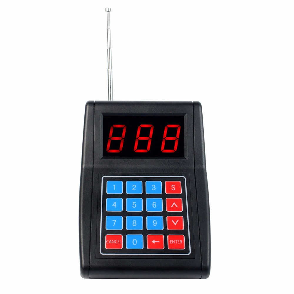 999 Channel Wireless Call Button Keypad Transmitter for Wireless Paging Queuing System F4477A wireless service call bell system popular in restaurant ce passed 433 92mhz full equipment watch pager 1 watch 7 call button