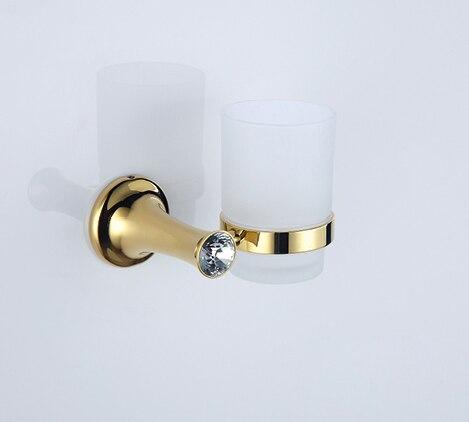 Бесплатная доставка золото CLOUR одного кружка и стакан держатели