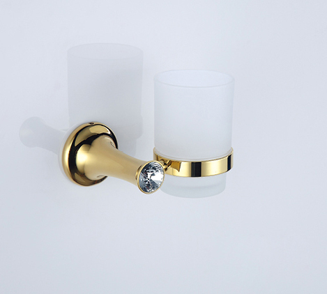 FREE SHIPPING  GOLD CLOUR Crystal single cup and tumbler holders free shipping new design 24k gold crystal single cup and tumbler holder