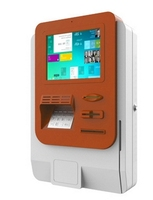 Metro Station Hotel mall Wall mounted multi function self service payment terminal kiosk