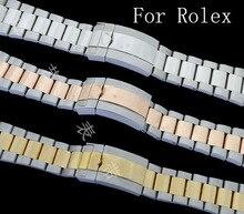Marcas de lujo, 20 MM nuevo Mens completa de acero inoxidable de la mariposa metel resistente al agua correa para papel de conducción del reloj del deporte con LOGO