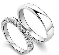 Sterling Silver 925 Ring The Engagement Ring Couples Promise Rings Valentine's Day Lovers