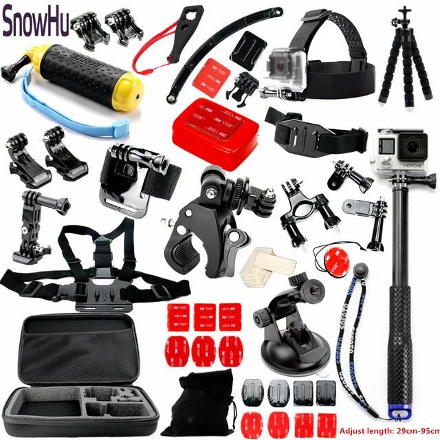 SnowHu  For Gopro Accessories set Octopus Tripod Suitable for Go pro Hero 5 5s 4 3+2 1  for XiaomiYI EKEN H9 Action Camera TZ28