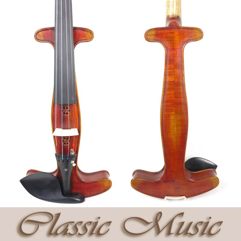 The Period Acoustic Silent Violin Special Edition (4/4) , Rare Find. Handmade Oil Varnish, Spruce wood one red 4 string 4 4 violin electric violin acoustic violin maple wood spruce wood big jack color
