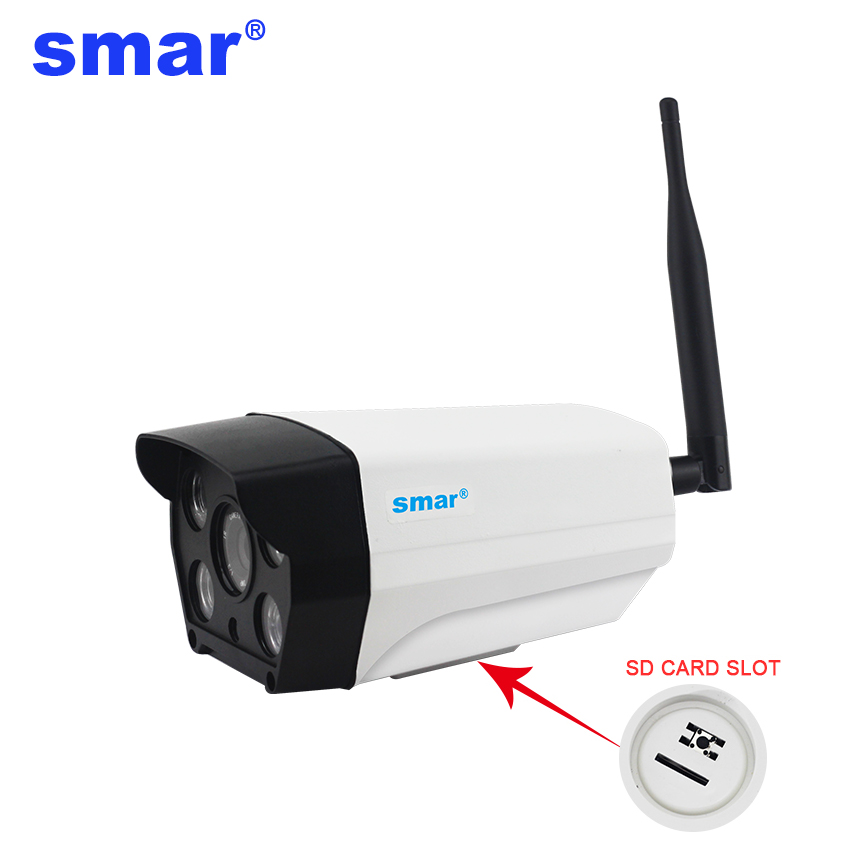 Smar HD IP Camera 720p 960P Wireless Bullet Camera WIFI Onvif P2P Waterproof Outdoor Security CCTV IP Cam Support 64G SD Card hd 720p 1080p wifi ip camera 960p outdoor wireless onvif p2p cctv surveillance bullet security camera tf card slot app camhi