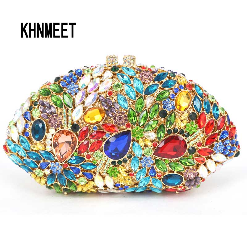 LaiSC Multi color Evening Bag 2016 Newest  Holiday Party bag Big crystal Diamond Women Clutch Bag Ladies Handbag  SC445 women custom name crystal big diamond clutch women evening clutch bag 1020bg