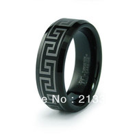 FREE SHIPPING USA WHOLESALES CHEAP PRICE BRAZIL RUSSIA CANADA UK HOT SALE 8MM NEW ENGRAVED BLACK BRIDAL TUNGSTEN WEDDING RING