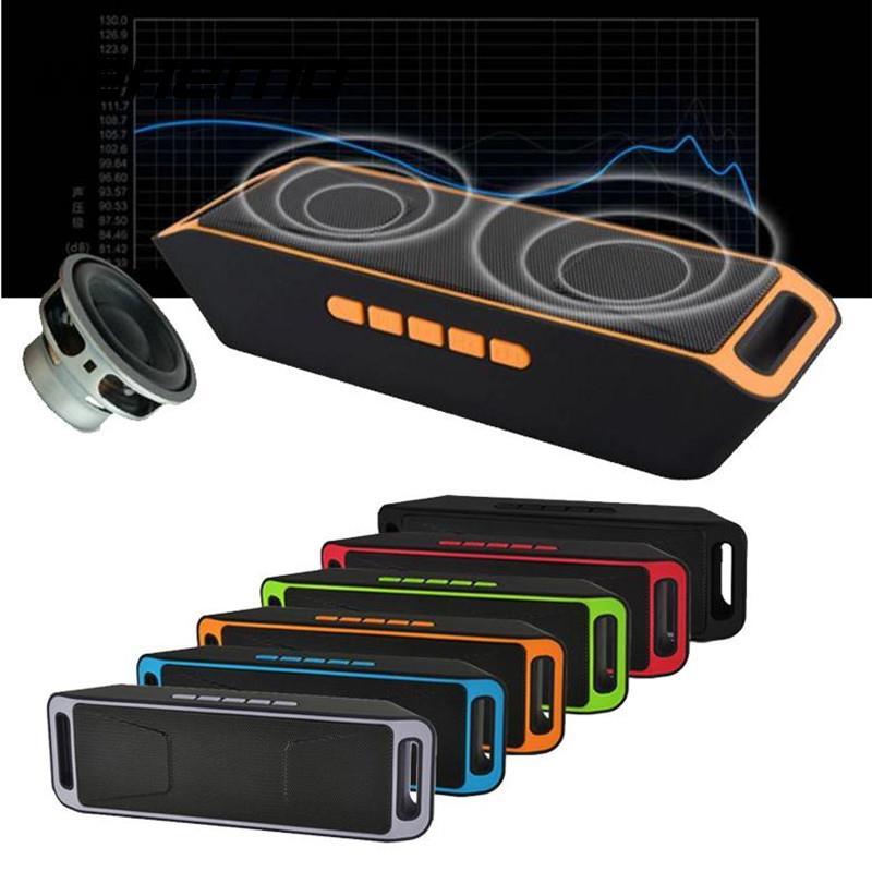 Vehemo Speaker Subwoofer Bluetooth-4.0 Dual-Bass Built-In Stereo SC208 Mic Sound-Box