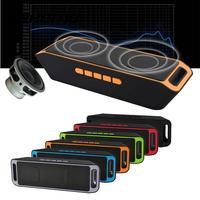 Vehemo SC208 블루투스 4.0 무선 스피커 스테레오 서브 우퍼 스피커 TF USB FM 라디오 내장 마이크