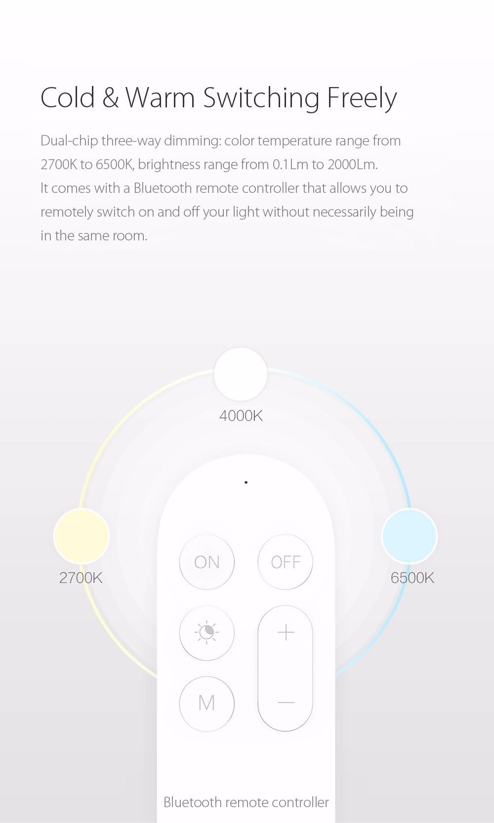 image for 2017 New Original Xiaomi Yeelight Smart Ceiling Light Lamp Remote Mi A