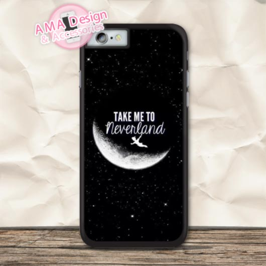 Neverland Quote Chile hood Memory Peter Pan Protective Case For iPhone X 8 7 6 6s Plus 5 5s SE 5c 4 4s For iPod Touch