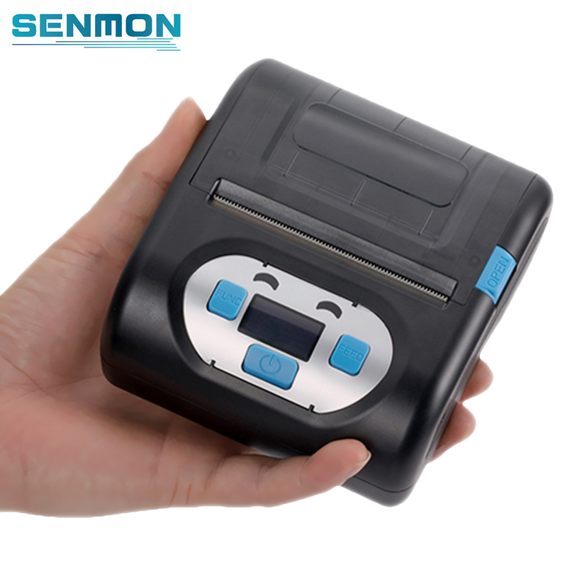 Senmon Portable Mobile Bluetooth 80MM Thermal Receipt Printer POS 3 Inch Mini Android Wireless Barcode Label