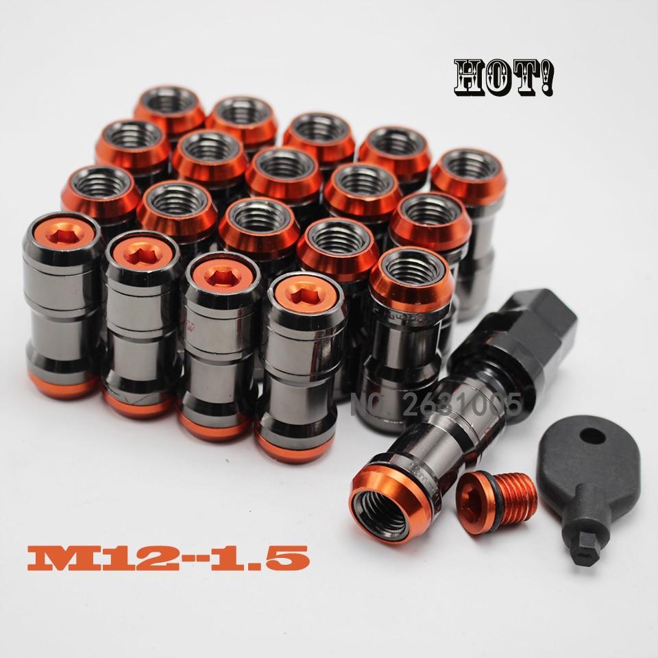 20PCS NEO CHROME RACING FORGED STEEL LUG NUTS M12x1.5MM FOR TOYOTA ACURA SCION HONDA