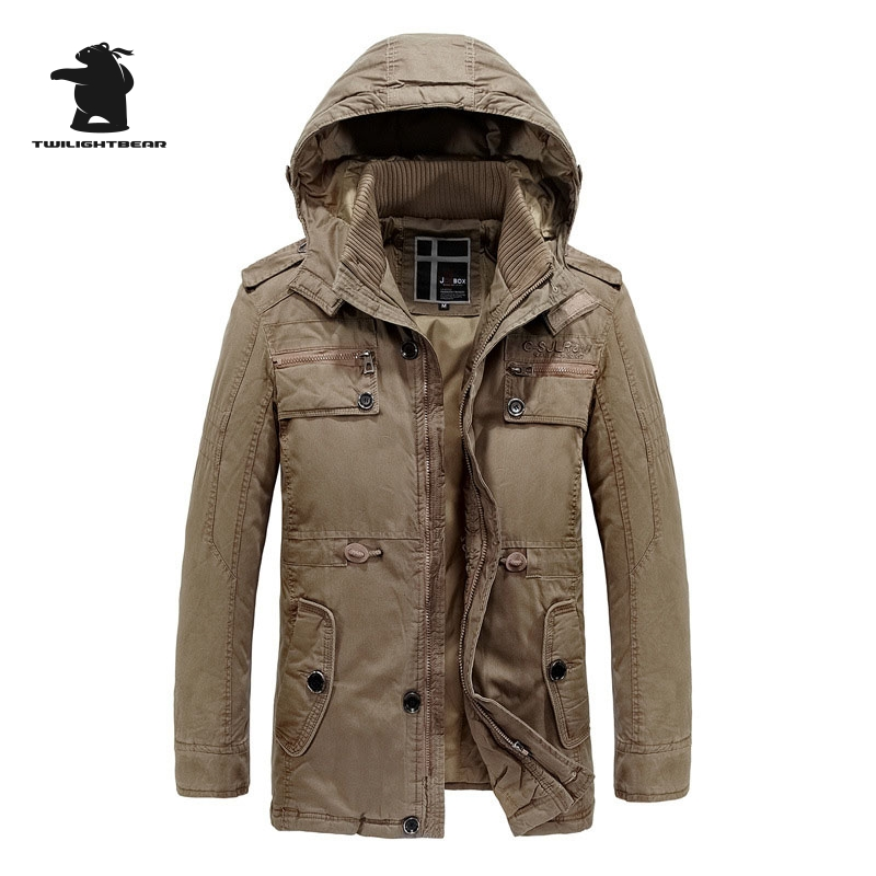 2017 New Winter Men Jacket Designer Fashion Hooded Plus Size Fleece Thicken Casual Jacket Coat For Men Overcoat M~2XL D8F8906 2017 new men s uniform fleece parkas fashion embroidery hood plus size thicked air pilot jacket coat for men pull homme d20f9935
