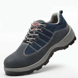 Scarpe di sicurezza Scarpe di Protezione Traspirante Puntale In Acciaio Scarpe di Sicurezza Stivali Unisex Scarpe Da Lavoro Scarpe Impermeabili Calzature Usura-resistente Anti-slip DXZ004