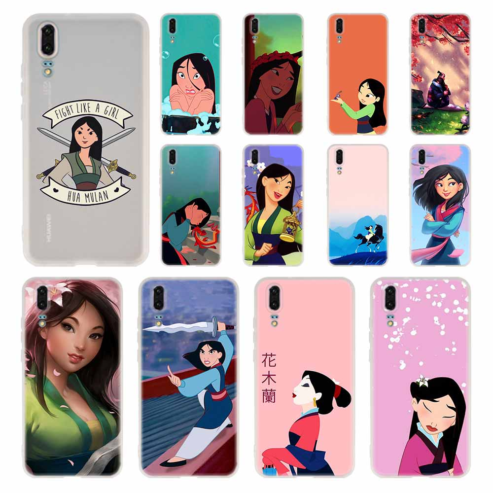 Cartoon Hua MuLAN Phone Case For Huawei P40 P9 P10 P20 P30 Lite Cases Pro P Smart 2019 Cover Soft Cover(China)