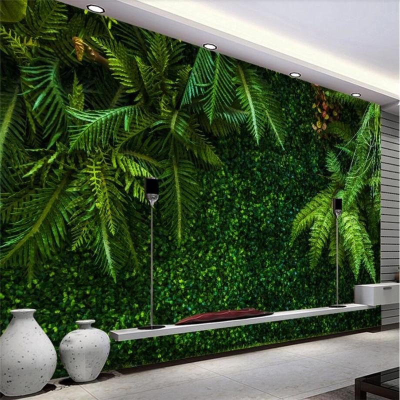Beibehang пользовательские 3d обои тропических лесов листья Зеленый пейзаж обои диван гостиная столовая телевизор фоне