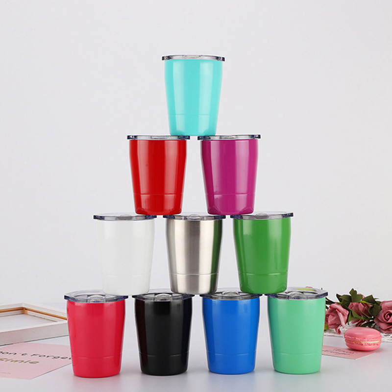304 stainless steel insulation cup Double wall vacuum coffee mug 260ml Children 39 s Milk tumbler in Mugs from Home amp Garden