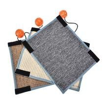 Sisal Straw Mat Cat Scratch Mat With A Ball Can Be Fixed Different Table Legs Pet Cat Toy Random Color Of The Ball Mat