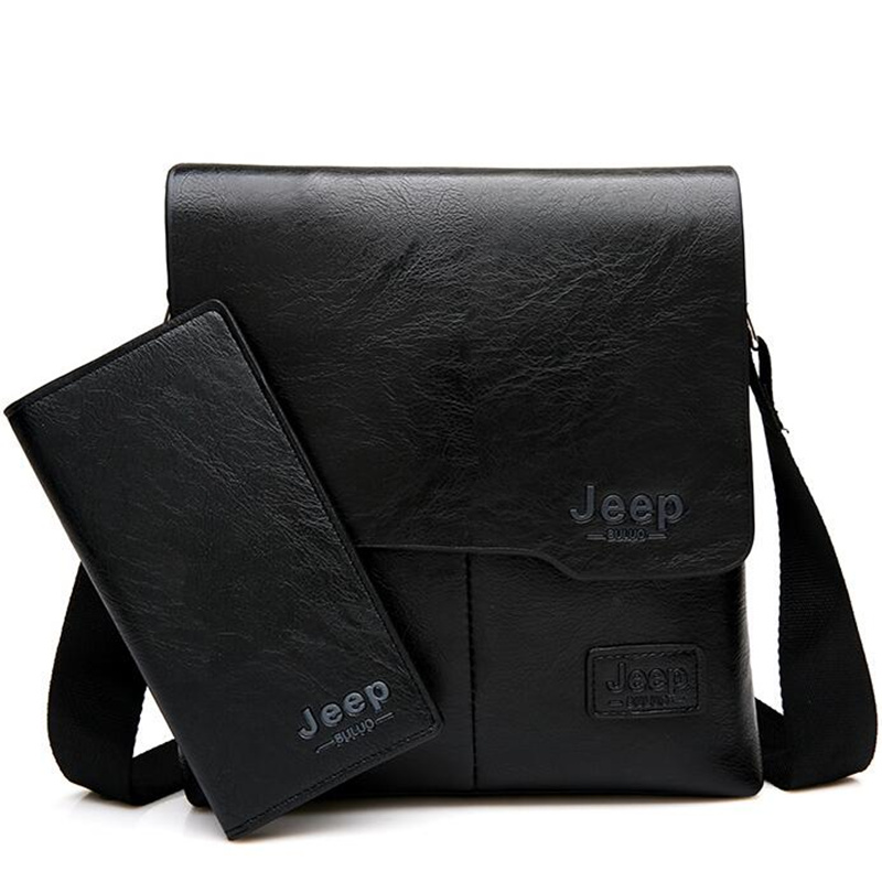 8b9fec262e Details about JEEP BULUO Man Messenger Bag 2 Set Men Pu Leather Shoulder  Bags Business