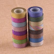 Glitter-Tape Gift-Packaging Self-Adhesive Home-Decoration Long for 1-Roll 10-Meters