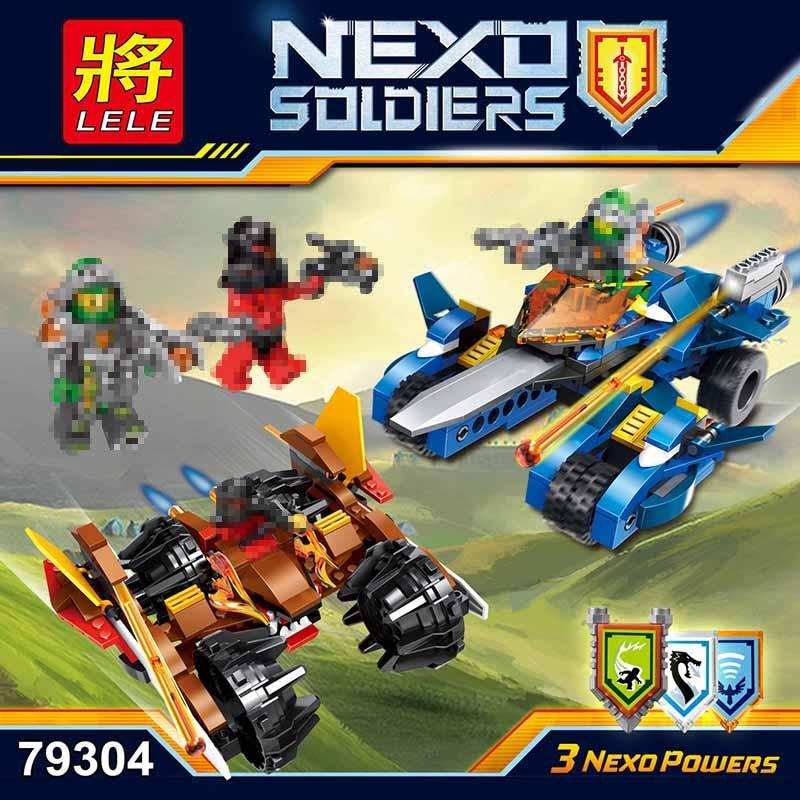 LELE Nexo חיילים אבירים העתיד הלוחם דגם - צעצועים בנייה