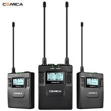 COMICA CVM-WM300 UHF 96 canaux métal sans fil Microphone double-émetteurs 1 récepteur, 120 m enregistrement en douceur pour DSLR vidéo