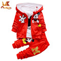 Monkids Winter 3Pcs/set Baby Boys Girls Clothing Set Baby Tracksuit Kids Clothes Children Clothing Sets Sport Suit