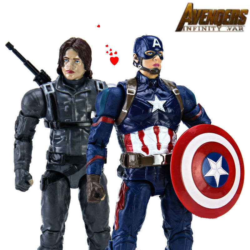 Civil Protection Toys : Legends civil war captain america winter soldier action