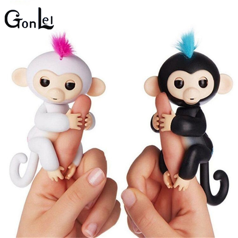 (GonLeI)In Stock New LED Fingerlings Unicorn Interactive Baby Monkeys Smart Fingers Smart Toys Gifts For Kids finger Monkey Toy