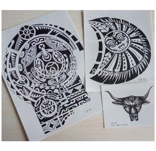 3 bl tter tatuagem dwayne johnson sterne 3d big size gro e henna tattoo aufkleber f r m nner. Black Bedroom Furniture Sets. Home Design Ideas