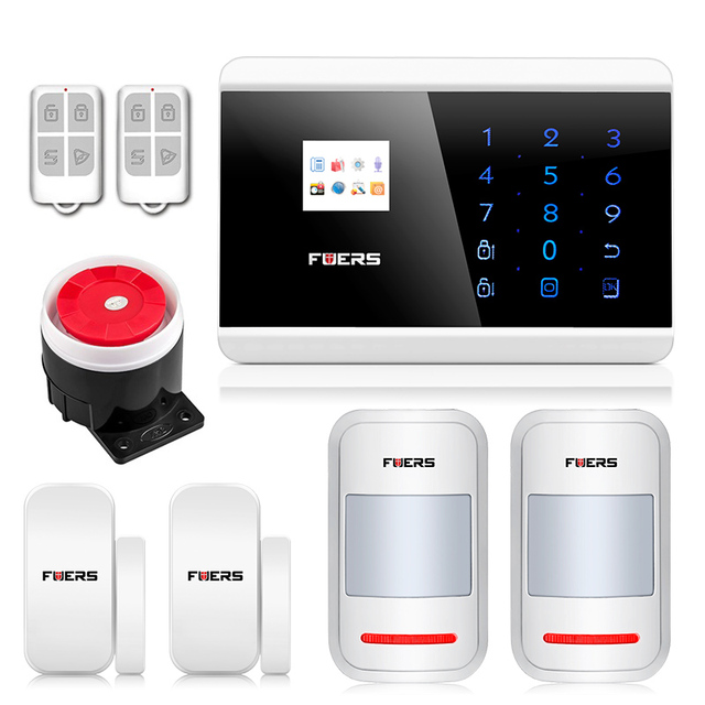 Wireless Russian/Spanish/French language GSM PSTN alarm system Android IOS APP home Security Alarm System with wired siren